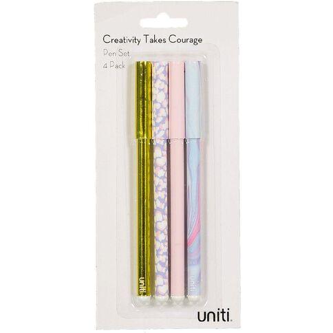 Uniti Creativity Takes Courage Pen Set 4 Pack