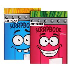 Mr Pencil Scrapbook 32 Leaf Assorted A4
