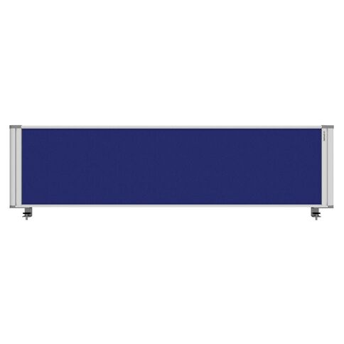Boyd Visuals Desk Mounted Partition 1760W Blue