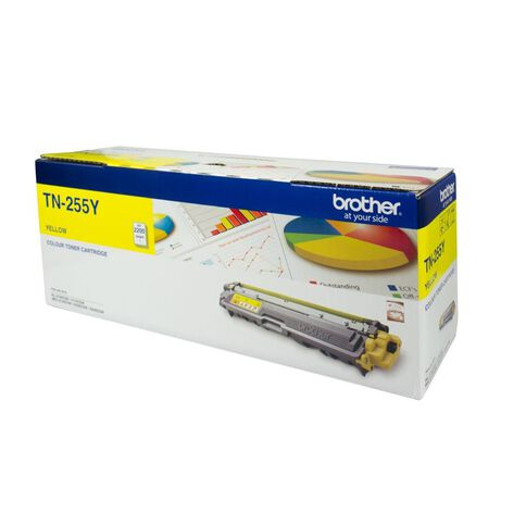 Brother Toner TN255 Yellow (2200 Pages)
