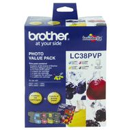 Brother Ink LC38 Photo Value 4 Pack