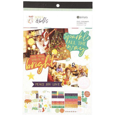 Rosie's Studio Bows & Bells Foil Statement Pad 5 Page