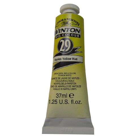 Winsor & Newton Winton Oil Paint 37ml Naples Hue Yellow