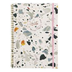 Uniti F&F Spiral Notebook Write White With Colourful Forms A4