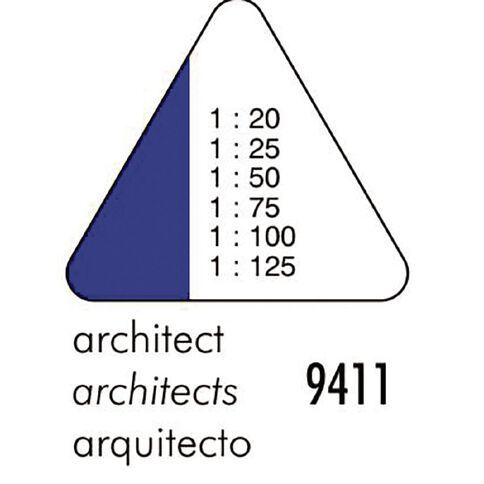 Standardgraph 9410 Tri Scale Ruler Architect Clear