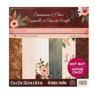 Craft Smith Paper Pad 12in x 12in Cinnamon Clove
