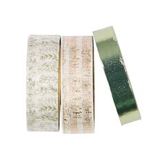 Uniti Adore Washi Tape Green 3 Pack