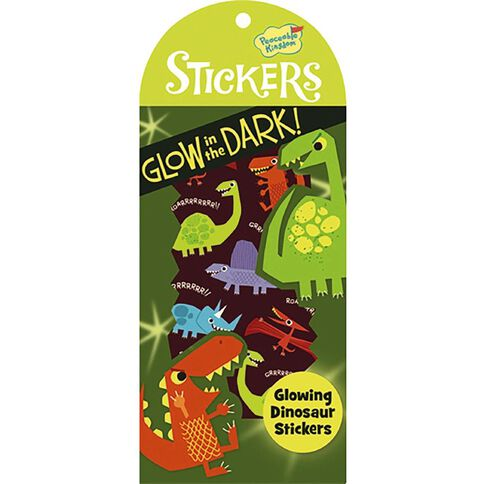 Peaceable Kingdom Stickers Glow In The Dark Dinosaurs