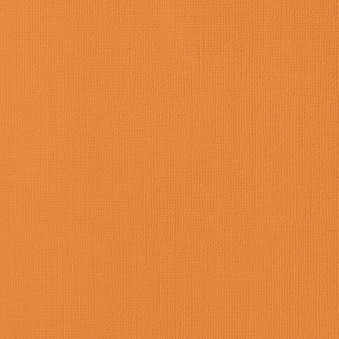 American Crafts Cardstock Textured 12 x 12 Carrot Orange