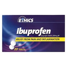 Ethics Ibuprofen Tablets 200mg 20s