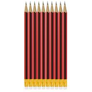 Impact Pencil Hb W/ Eraser Tip 10 Pack Black