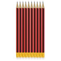WS Pencil Hb W/ Eraser Tip 10 Pack Black