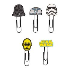 Star Wars 9 Novelty Paper Clips 5 Pack