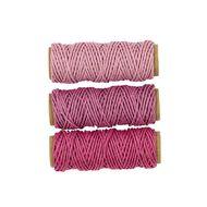 Uniti Hemp Cord Pinks 3 Pack