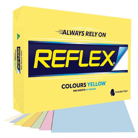 Reflex Paper 80gsm Tints 500 Pack Pink A4