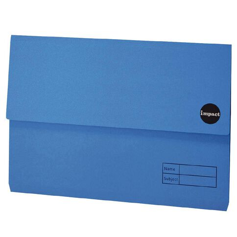 Impact Manilla Document Wallet Foolscap Blue