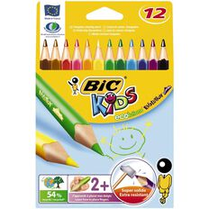 Bic Evolution Triangle Colouring Pencils 12 Pack