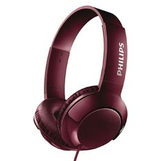 Philips On Ear Bass+ Headphones Red