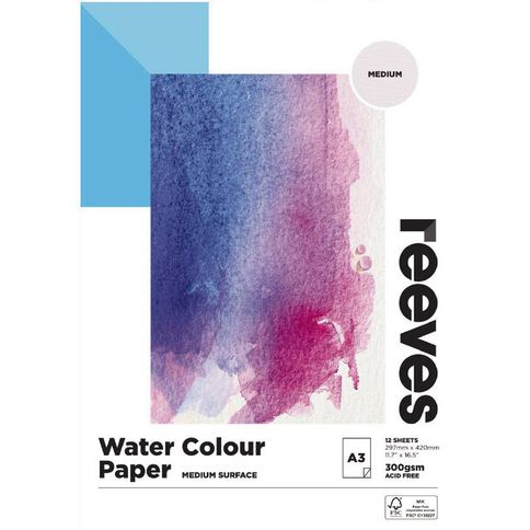 Reeves Water Colour Pad A3 A3
