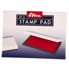 Shiny Stamp Pad Size 3 110 x 70mm Red