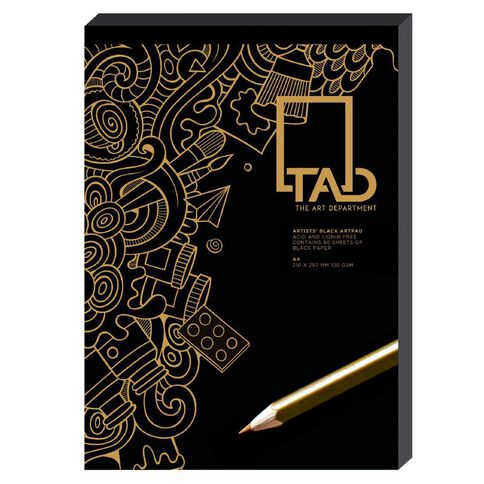 The Art Department Pad Black A4