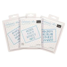 Couture Creations Alphabet Dies Assorted