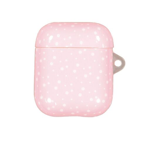 Positivity Airpod Case Polka Dot White & Pink