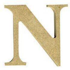 Sullivans Mdf Board Alphabet Letter 17cm N Brown
