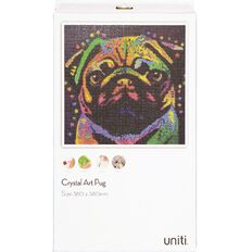 Uniti Crystal Art 38x38cm Pug