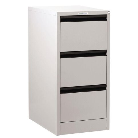 Precision Classic Filing Cabinet 3 Drawer White Satin