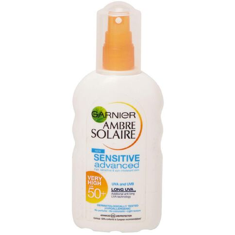 Garnier Ambre Solaire Sensitive Advanced SPF50 Spray 200ml