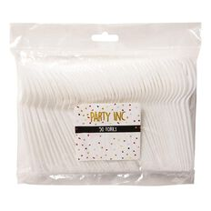 Party Inc Forks White 50 Pack