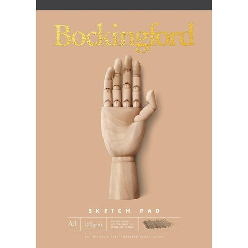 Bockingford Sketch Pad B21 60 Leaf 120gsm A3