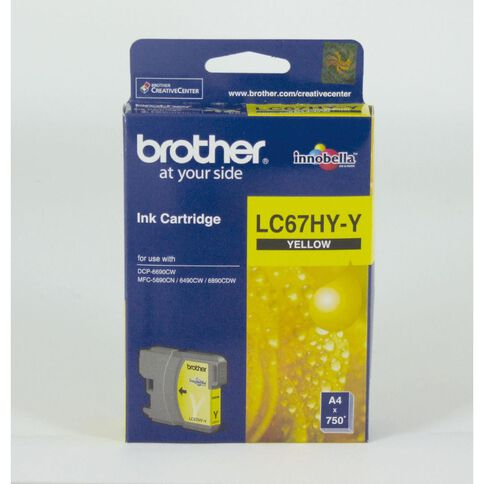 Brother Ink LC67HY Yellow (750 Pages)