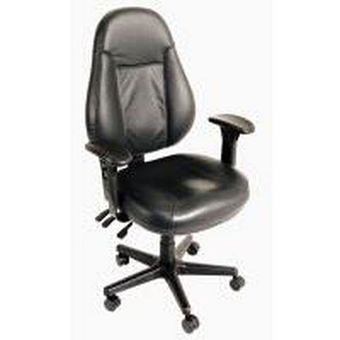 Buro Seating Persona Chair With Arms Leather Black