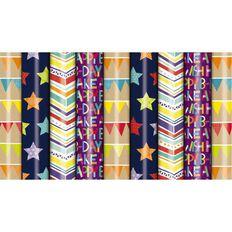 Roll Wrap 760mm x 5m Celebrate Assorted Multi-Coloured