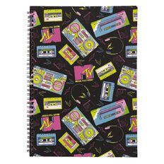 MTV Softcover Notebook Black A4