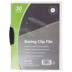 Office Supply Co Swingclip 1-30 Sheets Black A4
