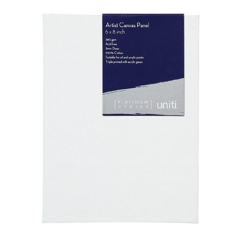 Uniti Platinum Canvas Panel 6x8 Inches 380Gsm