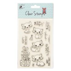 Little Birdie Clear Stamps Purrfect Birthday 14 Piece