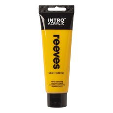 Reeves Intro Acrylic Paint Deep Yellow Yellow 120ml