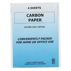 Paper Carbon 4 Sheets Blue A4