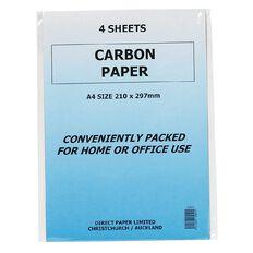 Paper Carbon 4 Sheets Blue A4