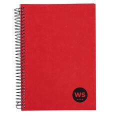 WS Notebook Wiro 200 Pages Hard Back Red A5