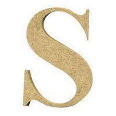 Sullivans Mdf Board Alphabet Letter 17cm S Brown