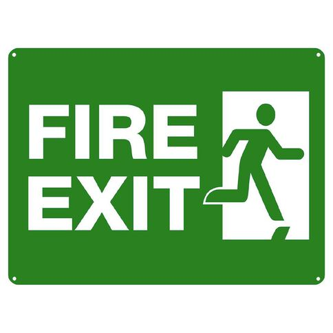 WS Fire Exit Sign Large 450mm x 600mm