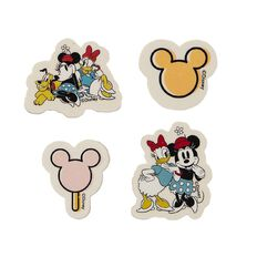 Minnie Mouse Q2 Novelty Erasers 4 Pack White 4 Pack