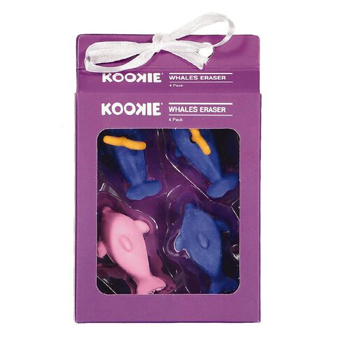 Kookie Novelty19 Whales Eraser 4 Pack