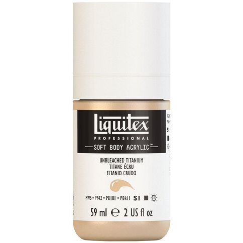Liquitex Soft Body Acrylic 59ml Unbleached Titan S1