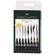 Faber-Castell 8 Pitt Artist Pens Nibs